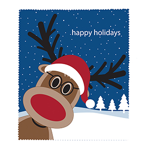 Happy Holidays Reindeer Microfiber Cloth