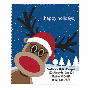 Related Product: Happy Holidays Reindeer Microfiber Cloth - Personalized