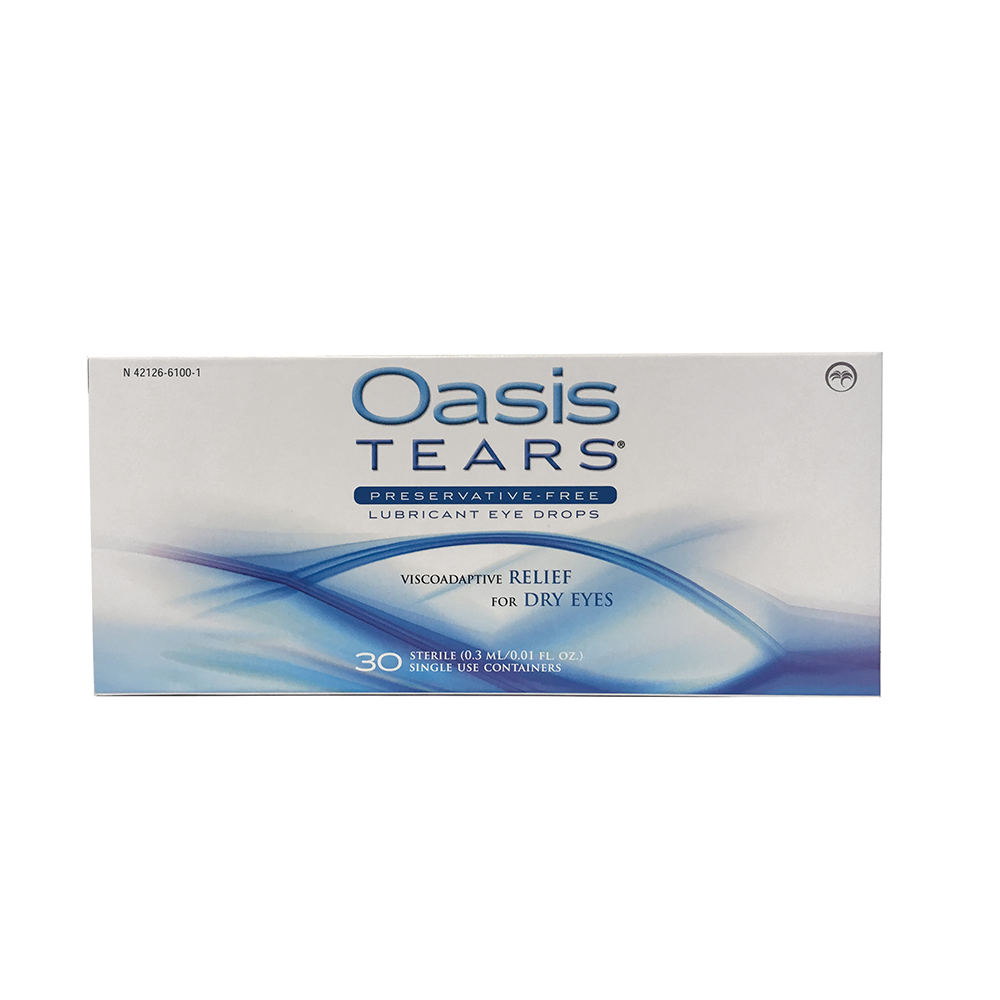OASIS Tears®  Lubricating Drops - Preservative-Free 30/BX