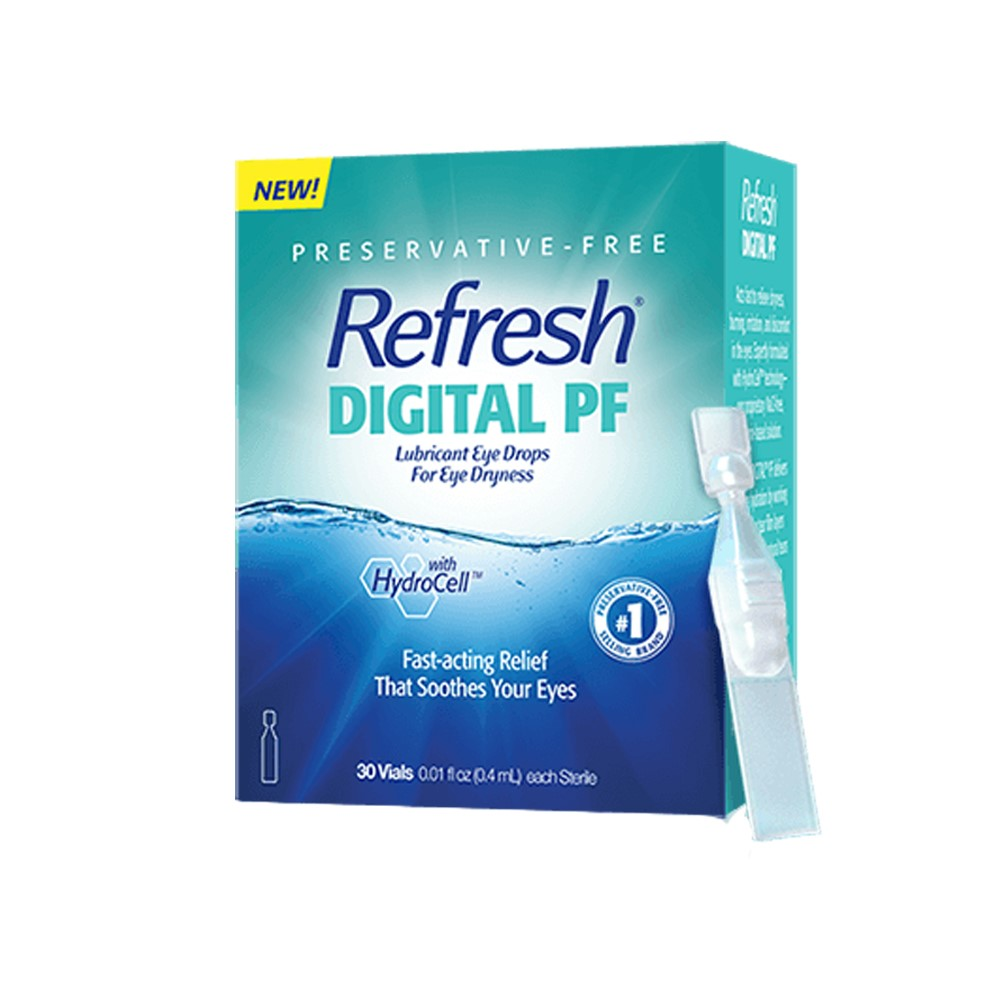Refresh Digital PF Lubricant Eye Drops 30ct. Single-Use Containers 0.01 fl oz (0.4 mL) Each