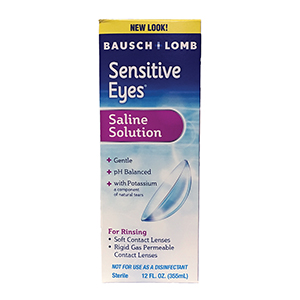 Related Product: Sensitive Eyes Plus Saline Solution by Bausch & Lomb