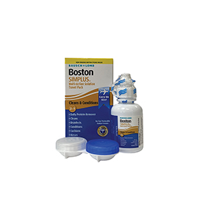Boston® Simplus® Multi-Action Solution Travel Kit and Lens Case by the case
