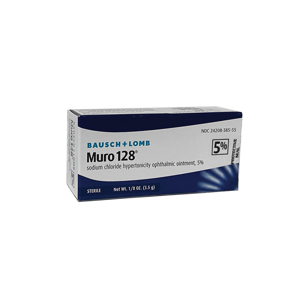 Muro 128®, 5% (Sodium Chloride Hypertonicity Ophthalmic Solution, 5%) by Bausch & Lomb - Single Pack