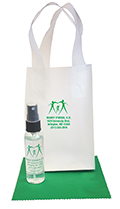 Related Product: AR Kleen® 2oz Clear Frosted Bag Lens Cleaning Kit - Personalized Cleaner & Bag (BLACK CAP)