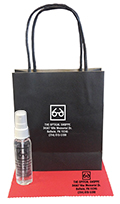 Related Product: AR Kleen 1oz Black Kraft Bag Lens Cleaning Kit - Imprinted Cleaner, Cloth,  & Bag