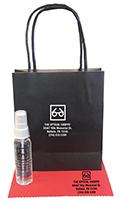 Related Product: AR Kleen 1oz Black Kraft Bag Lens Cleaning Kit - Imprinted Cleaner, Cloth,  & Bag