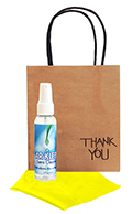 Related Product: AR Kleen� 2oz Thank You Lens Cleaning Kit Imprinted Personalized Cleaner & Cloth (BLACK CAP)