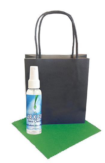 Black Kraft Bag 2oz Lens Cleaning Kit