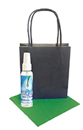 Black Kraft Bag 2oz Lens Cleaning Kit