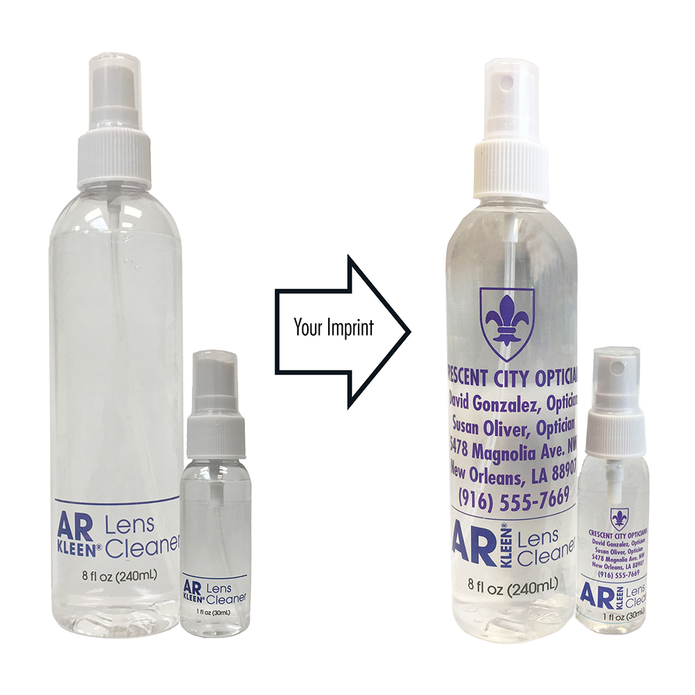 AR Kleen® 2017 Lens Cleaner Companion Combo (1oz AR KLEEN® Spray with 8oz Spray) - Personalized