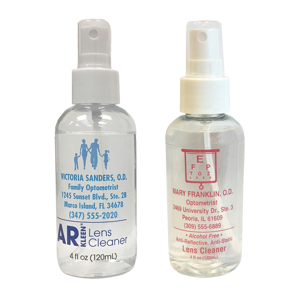 AR Kleen® Lens Cleaner 4oz spray bottle - Personalized