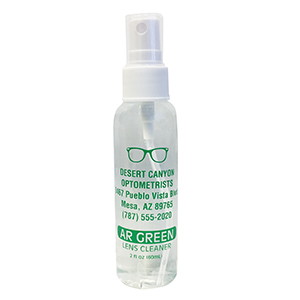 AR Green Lens Cleaner 2oz spray bottle - Personalized