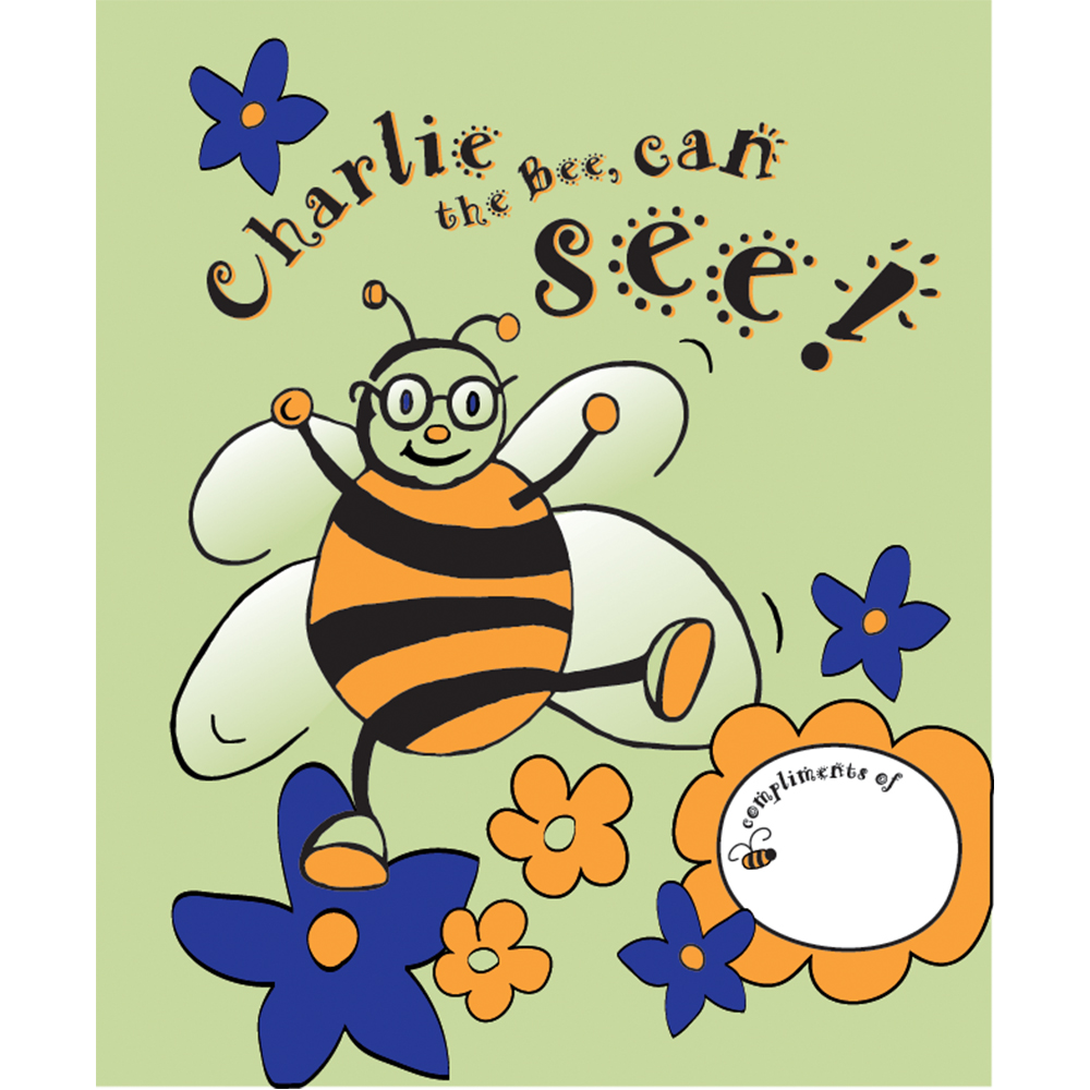 "Coloring Book - ""Charlie the Bee Can See!"""