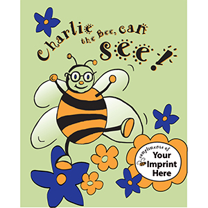 "Imprinted Coloring Book - ""Charlie the Bee Can See!"""