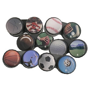 Sports' Line Screw Top Contact Lens Case