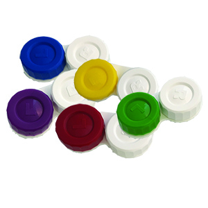 White Screw Top Cases with Color Left Lid