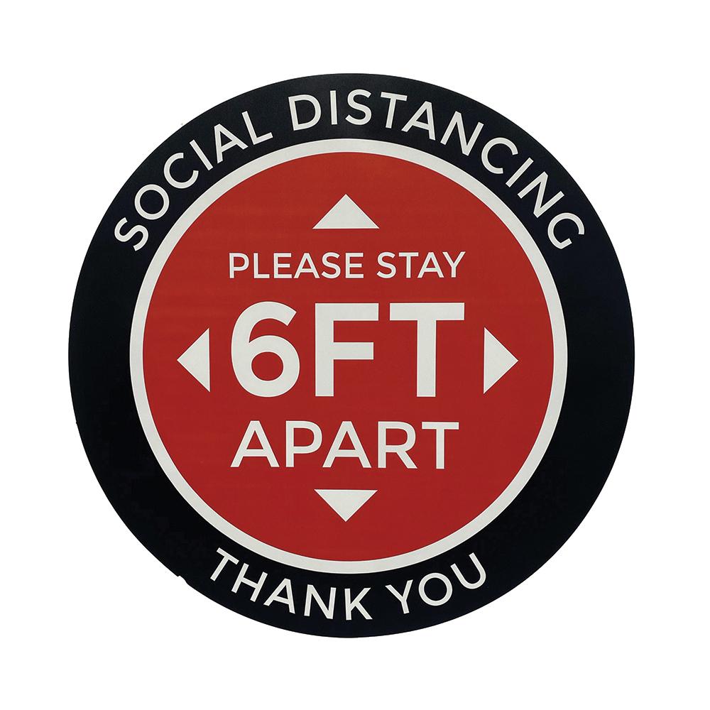 Social Distance Vinyl Floor Stickers