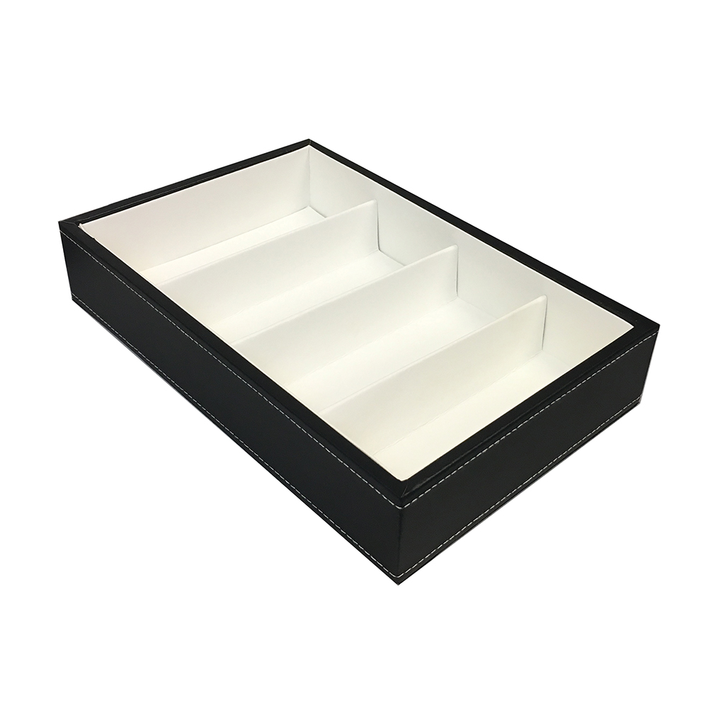 4 Cavity Black Frame Tray