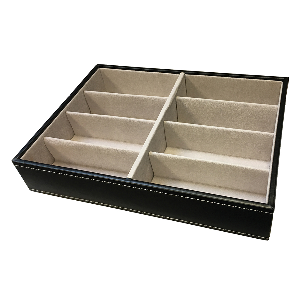 8 Cavity Black Frame Tray