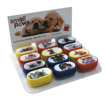 Small Paws Series Design Contact Lens Cases - Prepacked Display