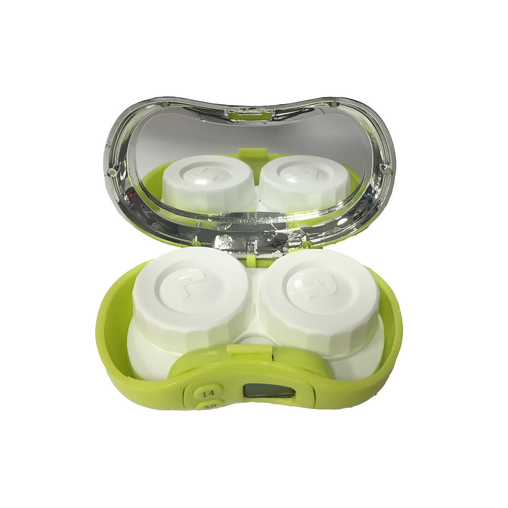 Digicase Digital Contact Lens Case Reminder Case with Mirror