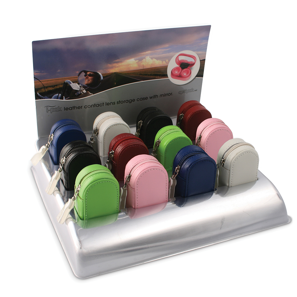 iPAK Leather Contact Lens Cases Display