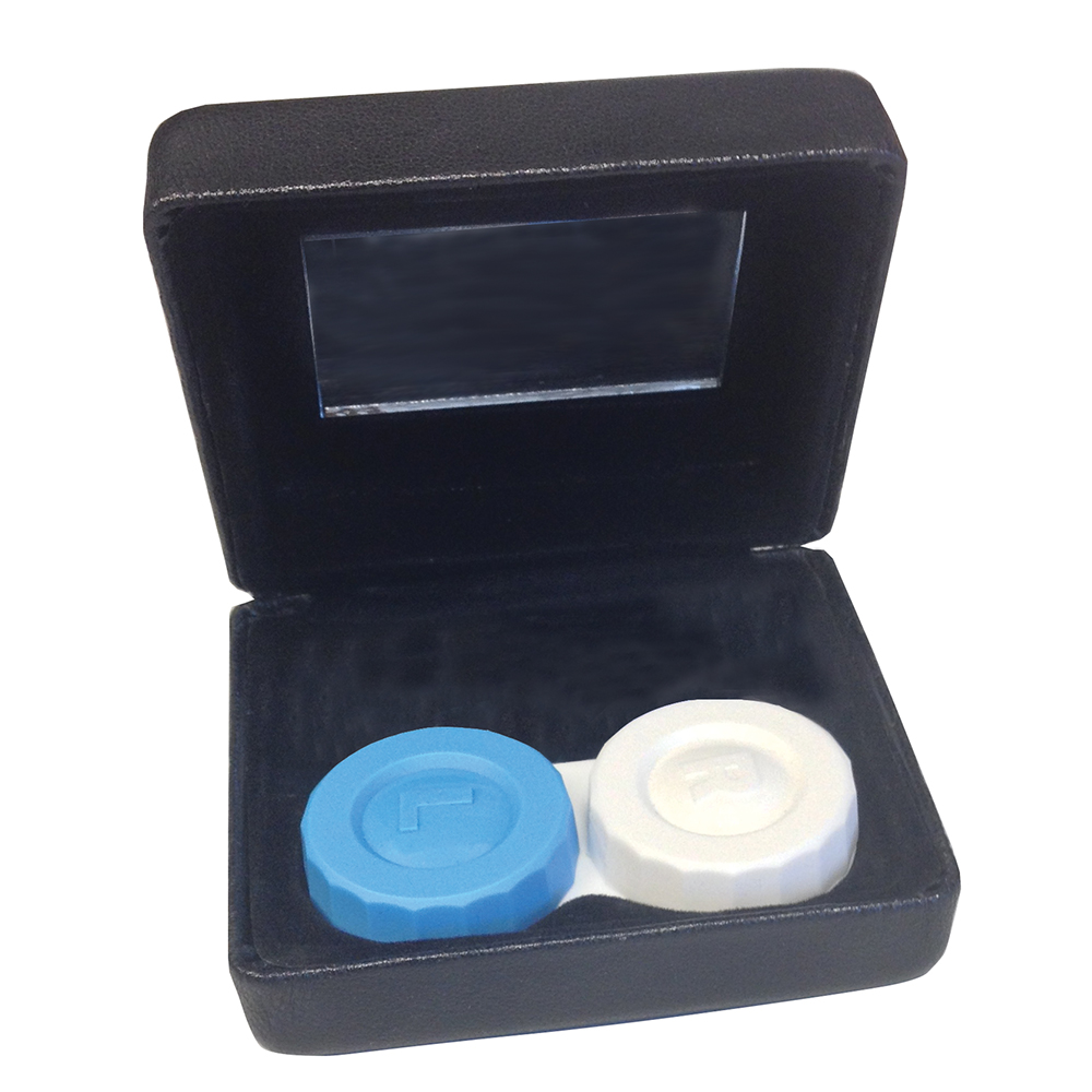 Contact Case: Contact Lens Case With Solution Bottle: Specialty Contact