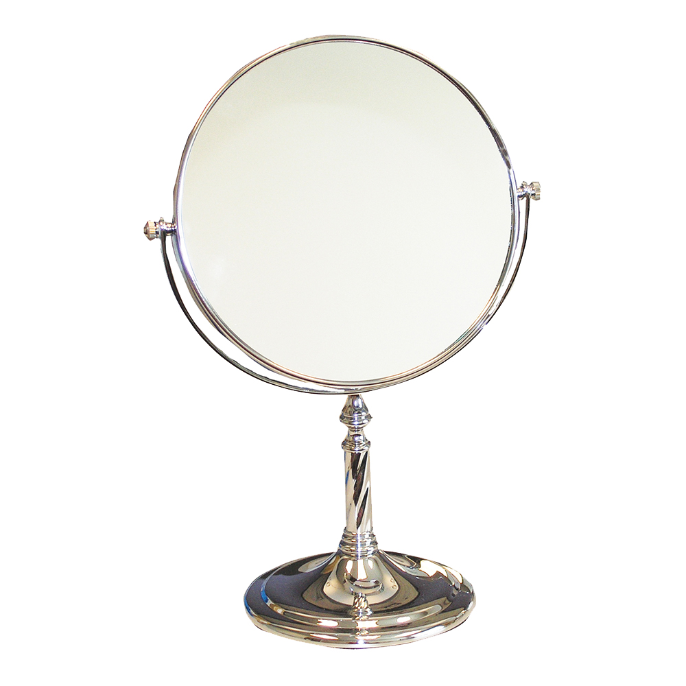 Silver Dispensing Mirror - 8 inch Mirror with  Pedestal - 3X Power