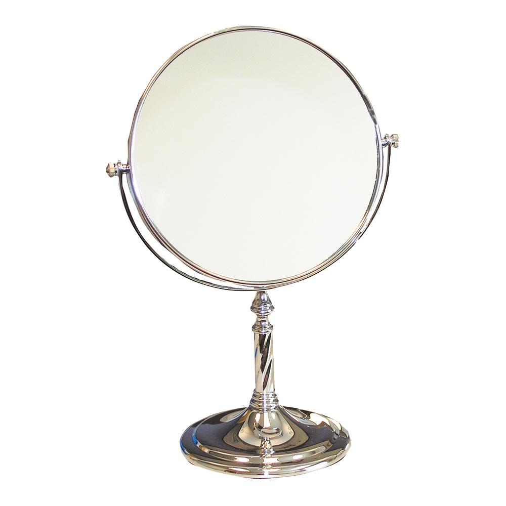 Silver Dispensing Mirror - 8 inch Mirror with  Pedestal - 5X Power