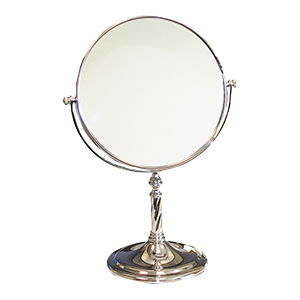 Related Product: Silver Dispensing Mirror - 8 inch Mirror with  Pedestal - 5X Power