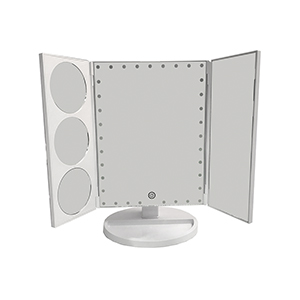 Related Product: Lighted 3-Panel Pedestal Mirror