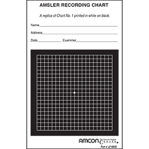 Reversed Grid Amsler Recording Pad