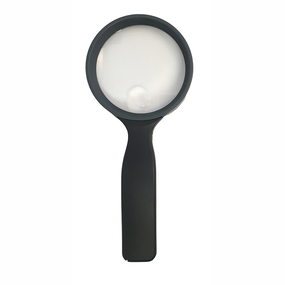 "Handheld Magnifier with 3.5"" Lens Diameter, Ergo Handle"