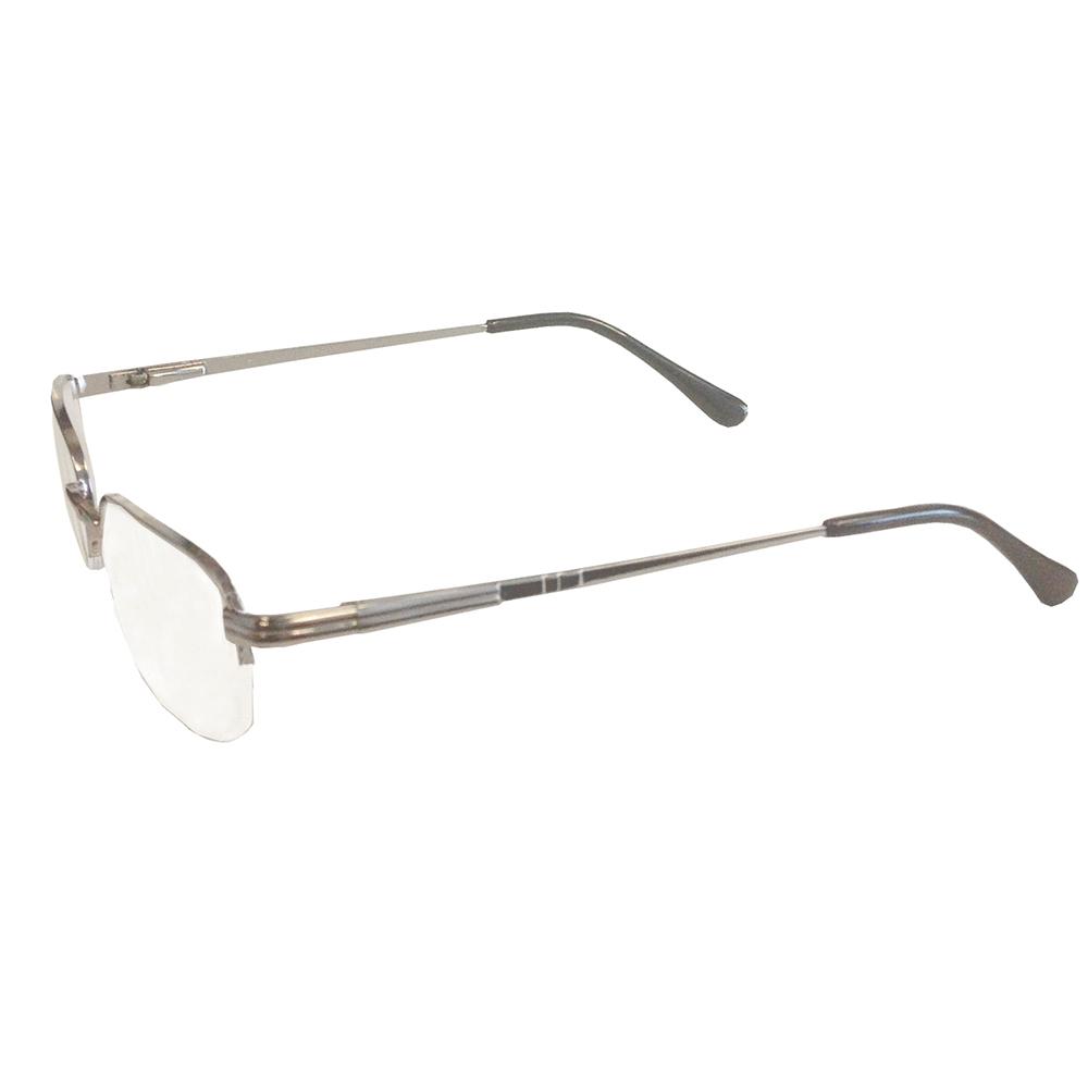 Silver Semi-Rimless Spring Hinge Reader: Reading Glasses ...