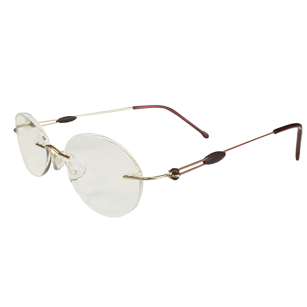 466a7769f750 Gold Rimless Reading Glasses - Bitterroot Public Library