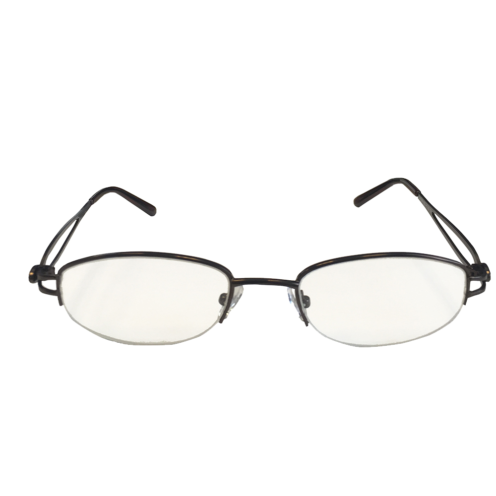 Semi-Rimless Bronze with Decorative Temple Readers