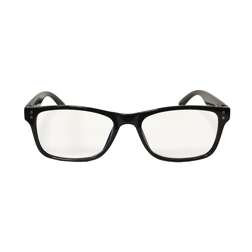Vintage Black Reader with Blue Blocker & Anti-Reflective Coated Lenses