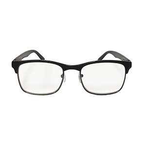 Hipster Black Reader with Blue Blocker & Anti-Reflective Coated Lenses