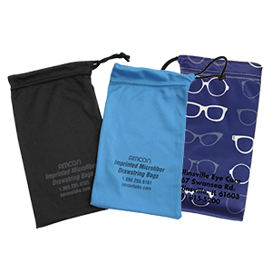 Imprinted Standard Silky Drawstring Pouch