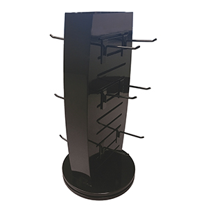 Revolving 2-Sided Display with Hooks
