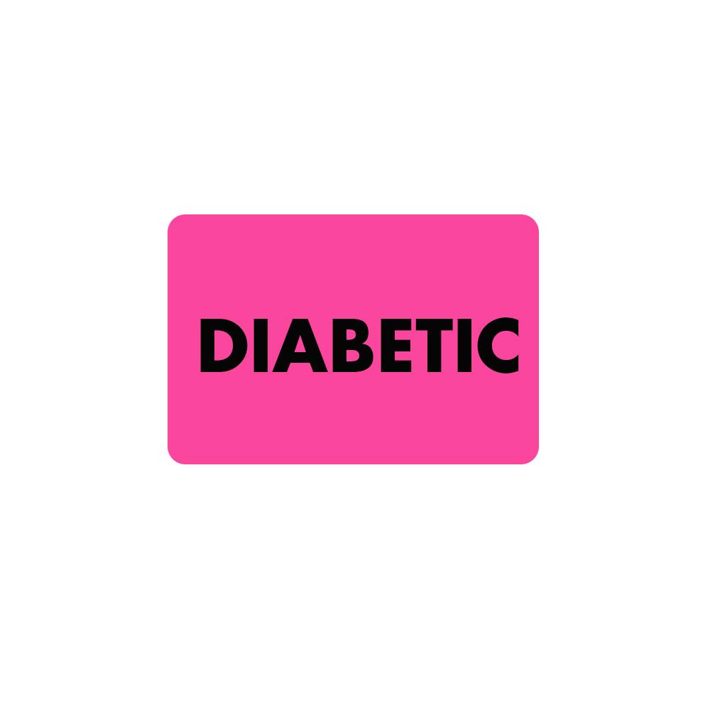 Patient Diabetic Warning Labels