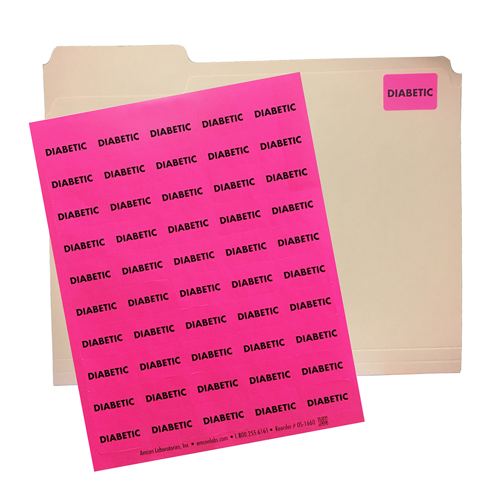 Patient Diabetic Warning Labels Organization Supplies