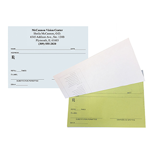 High Security TWO PART Prescription Pads