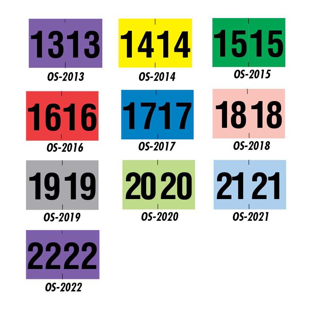 Year End Tab Folder Labels