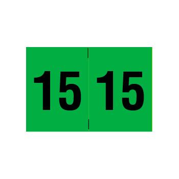 Year 2015 End Tab Folder Labels