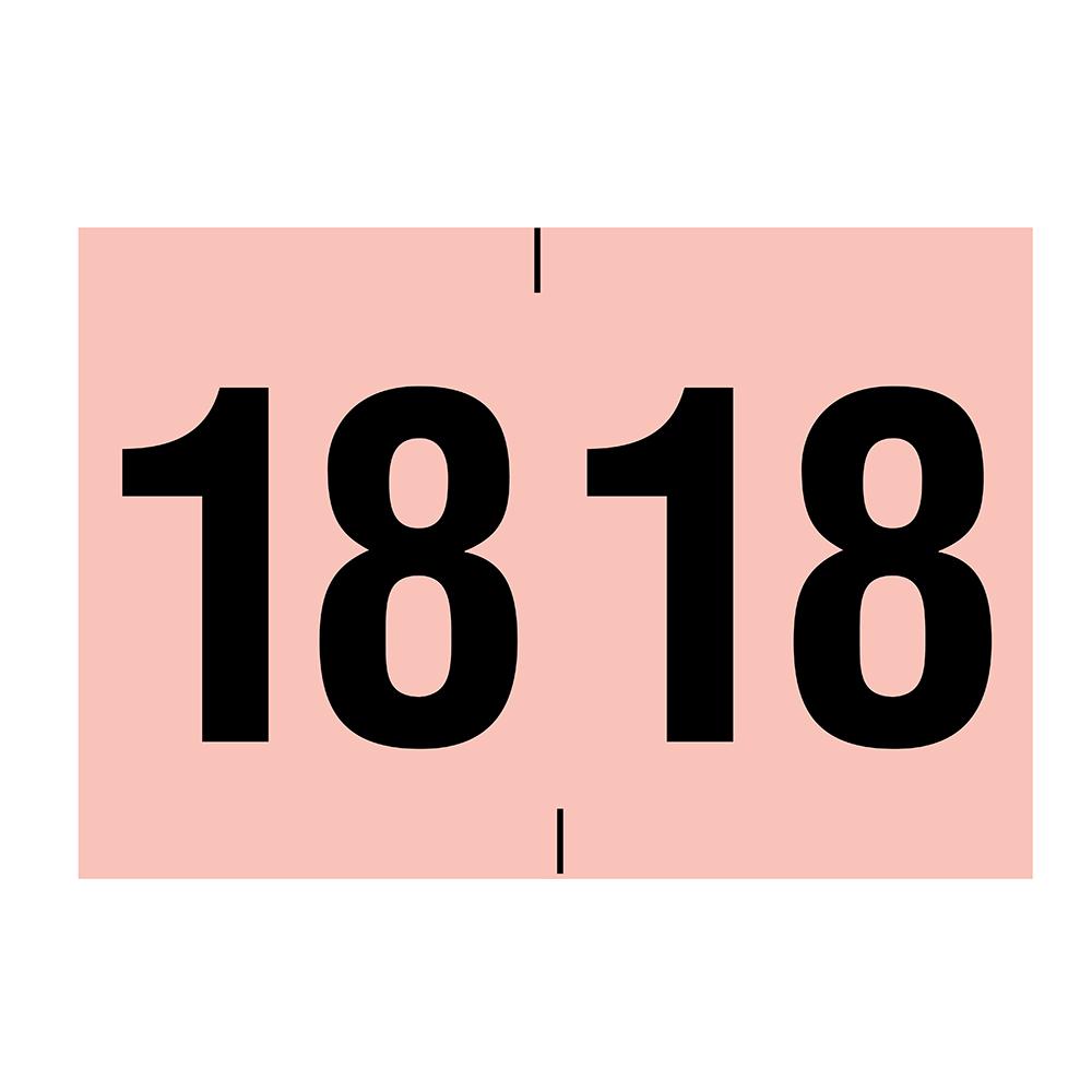 Year 2018 End Tab Folder Labels