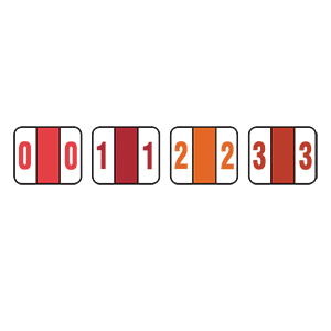 Related Product: Color-Coded Numeric Labels, 0-9