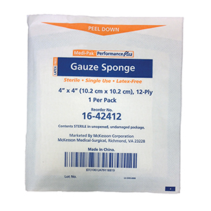 "Related Product: Gauze Pads/Sponges - Sterile 4"" x 4"""