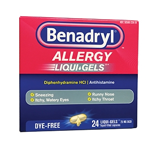 Related Product: Allergy Relief Benadryl® 25mg