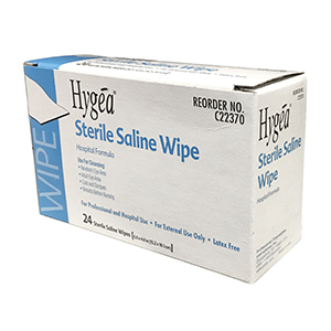 Related Product: Saline Wipes (Sterile)